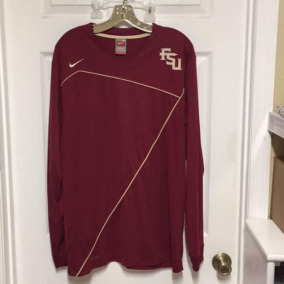 d1b819f5 Nike Shirts | Florida State Fsu Dri Fit Shirt Sz Med Lng Sl | Poshmark